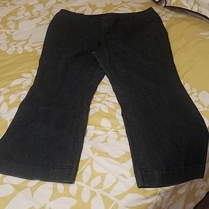 Denim trouser, subtle stripe